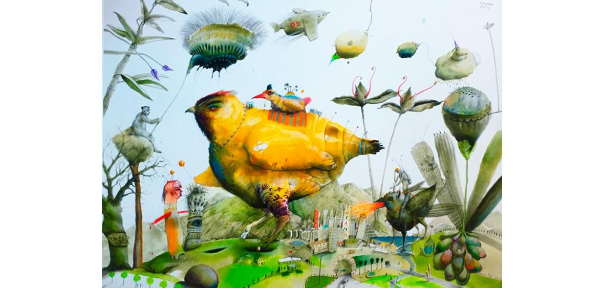 Die große Reise - Art Print auf Bütten