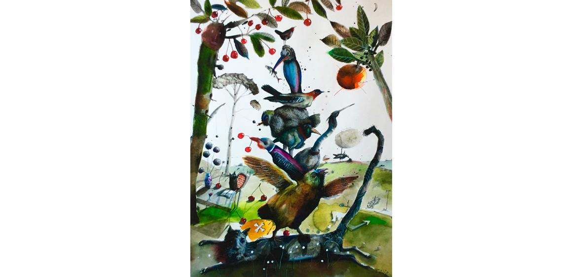 Triumph der Vögel - Art Print auf Bütten