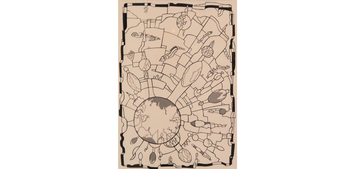 Im Umkreis - Papierschnitt, Unikat