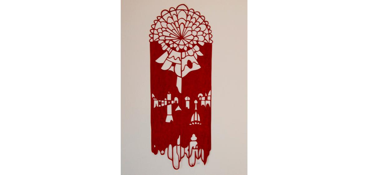 Nachtblume - Papierschnitt