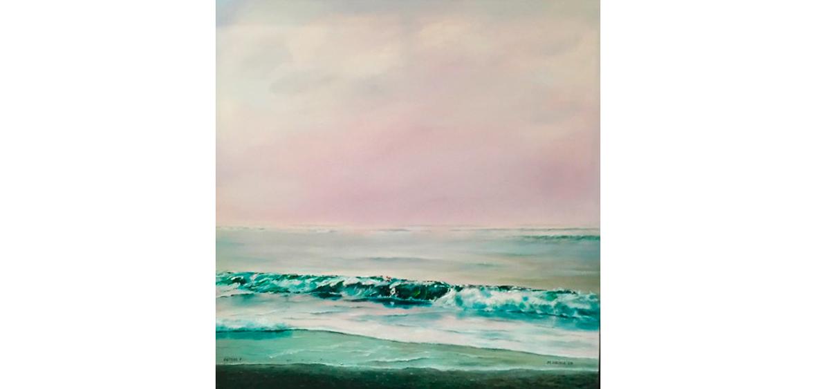Wellen - Öl auf Leinwand