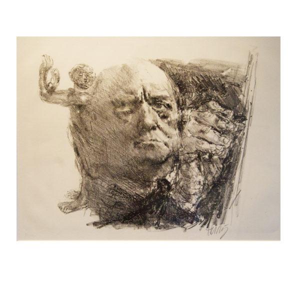 Bernhard Heisig - Portrait Max Beckmann