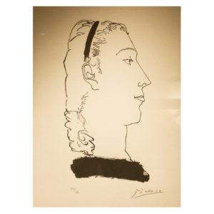 Pablo Picasso - Tete de femme aux cheveux ebouriffes