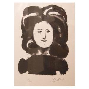 Pablo Picasso - Visage de femme a la chevelure abondante