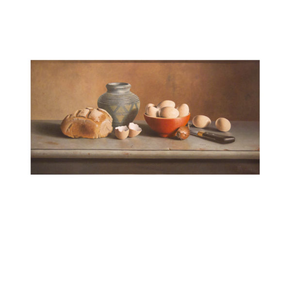 Frank Beuster - Brot und Eier mit portugiesischer Vase